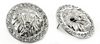 Lion of Judah Button Earrings (Silver Tone with Rhinestones)