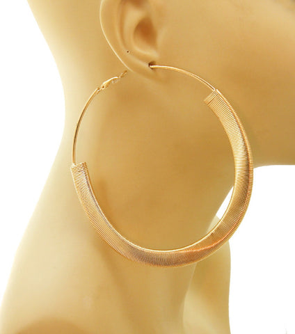 Bold Hoop Earrings in Gold or Silver Tone