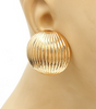 Bold Dome Earrings in Gold or Silver Tone