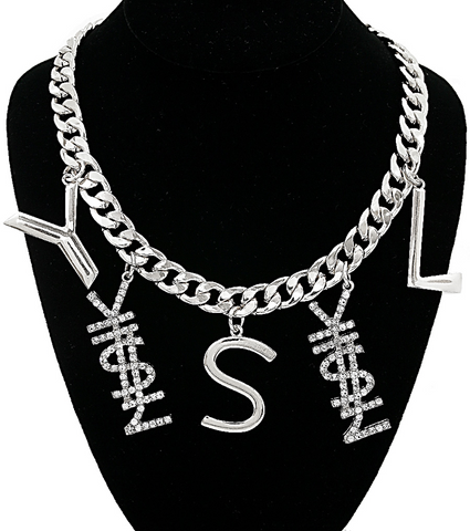 Y$L Bold Chain Statement Necklace