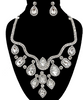 GLAM-IT-UP Classic Hollywood Necklace & Earrings Set embellished with Multi-Shape Rhinestones
