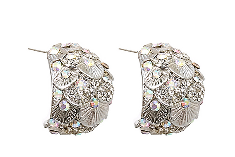 Glamorous Crystal Peacock Earrings