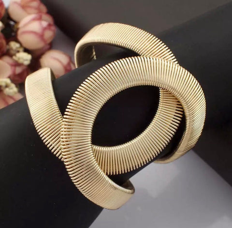 Bold Statement Bracelet in Silver or Gold Tone