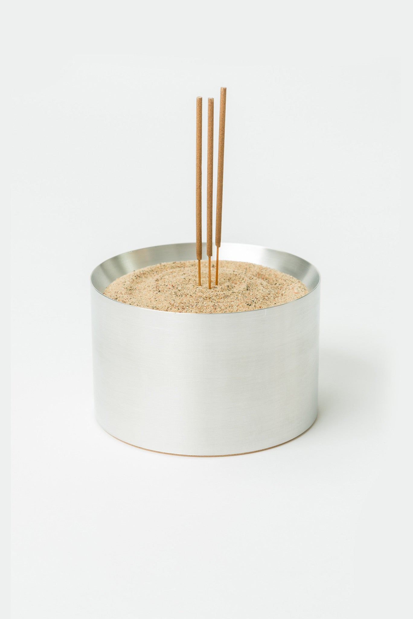Sand Incense Bowl in Solid Aluminum