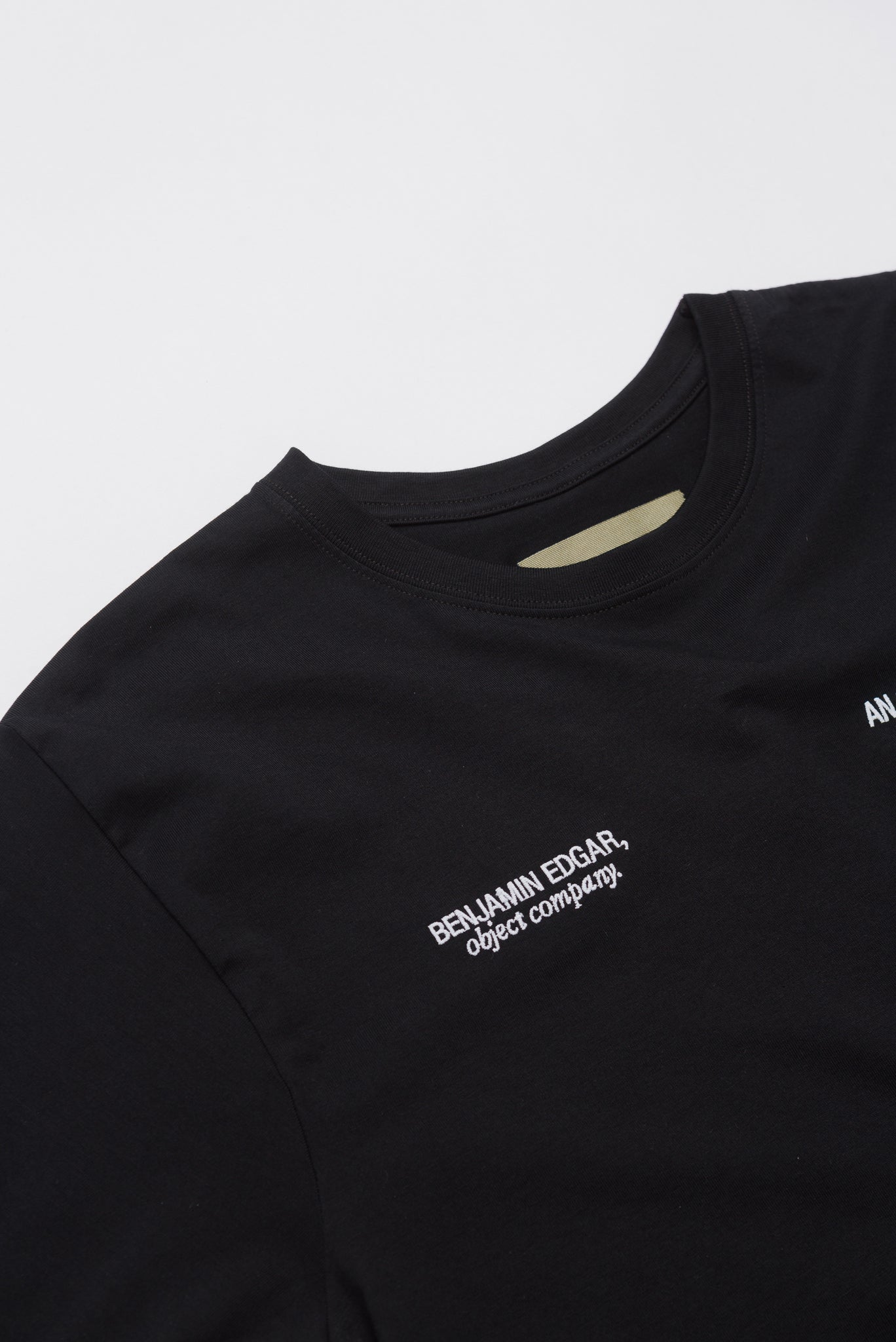 """All The Way Through"" #1 Embroidered Simple T-Shirt"
