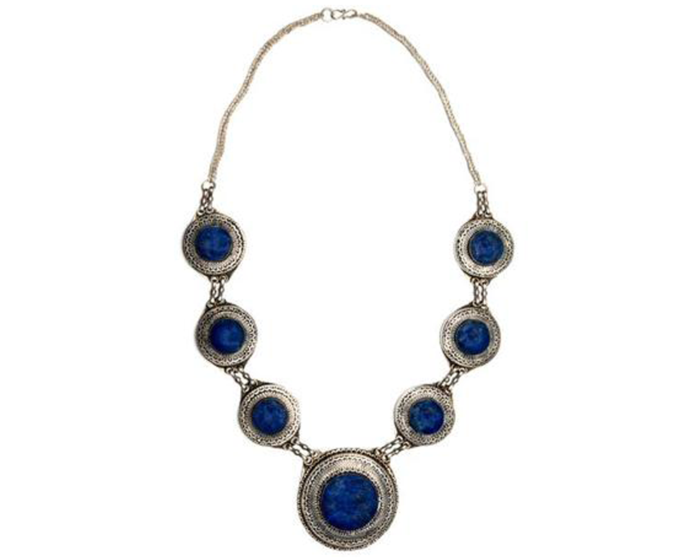 """Asman"" Lapis Station Necklace"