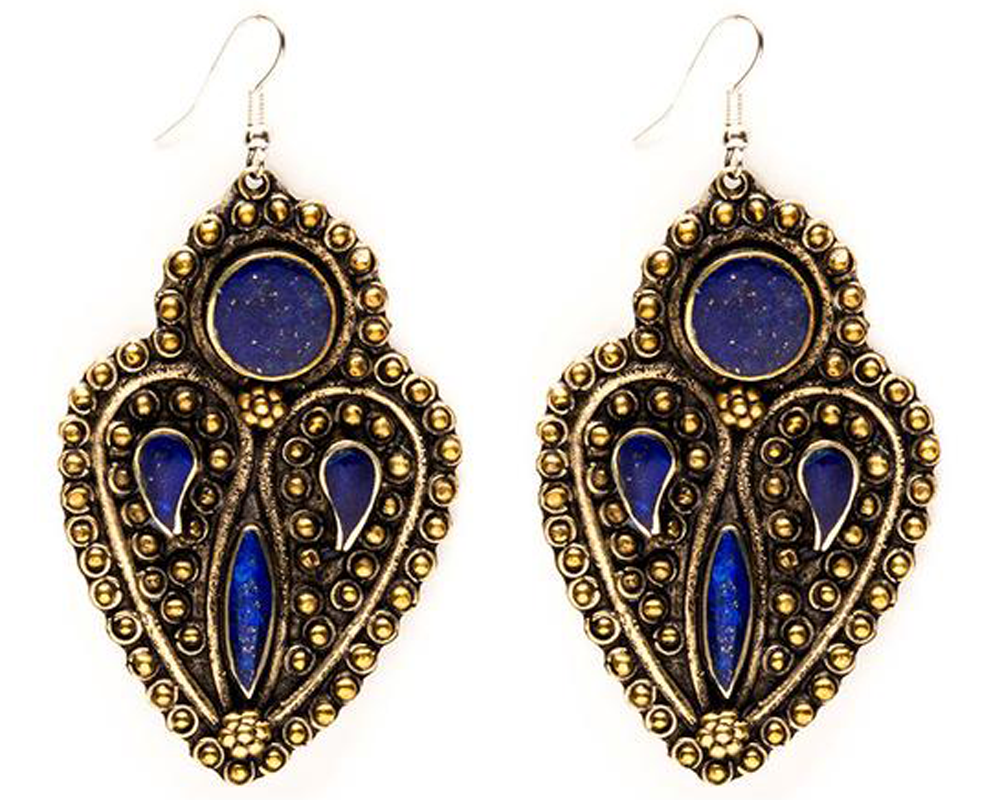 """Azita"" Paisley Earrings"