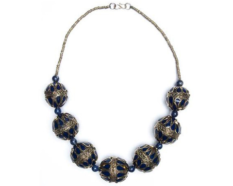 """Badria"" Filigree Bead Necklace"
