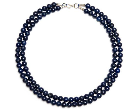 """Armaghan"" Double Strand Lapis Necklace"