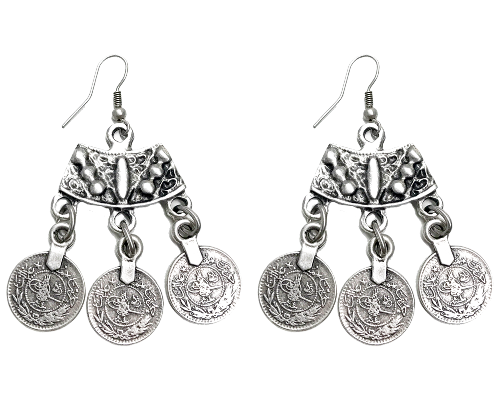 """Ayla"" Coin Dangle Earrings"