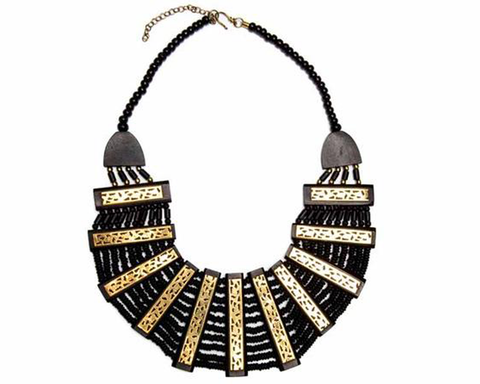 """Lavanya"" Ivory Inspired Cutout Collar Necklace"