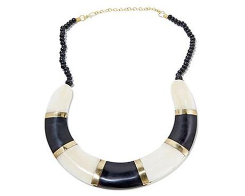 """Ekata"" Black and White Collar Necklace"