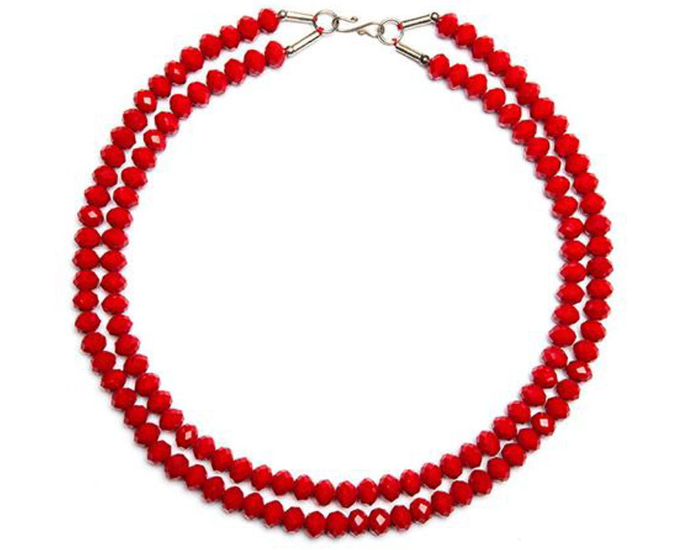 """Fruzan"" Faceted Bead Necklace"