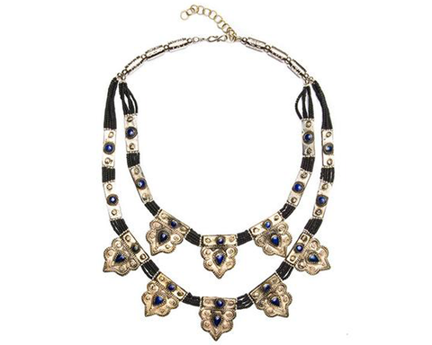 """Leila"" Double-Row Station Necklace"