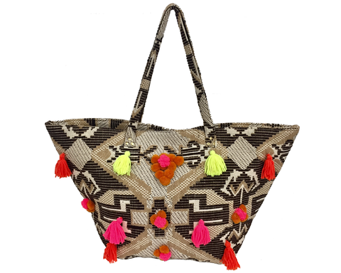 """Tulasi"" Tribal Embellished Tote"