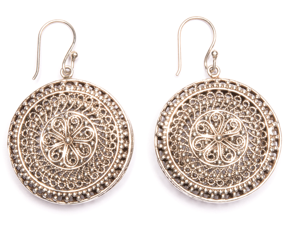 """Faiza"" Sterling Silver Earrings"