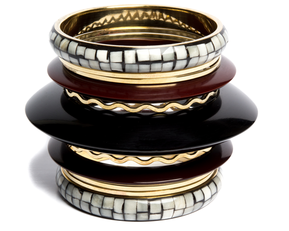 """Avnit"" Mosaic 11-piece Bangle Set"