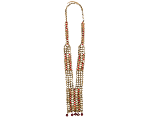 """Zulema"" Chain Rhinestone Necklace"