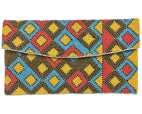 """Shanti"" Circle Beaded Clutch"