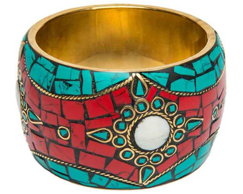 """Elina"" Mosaic Inlay Bangle"