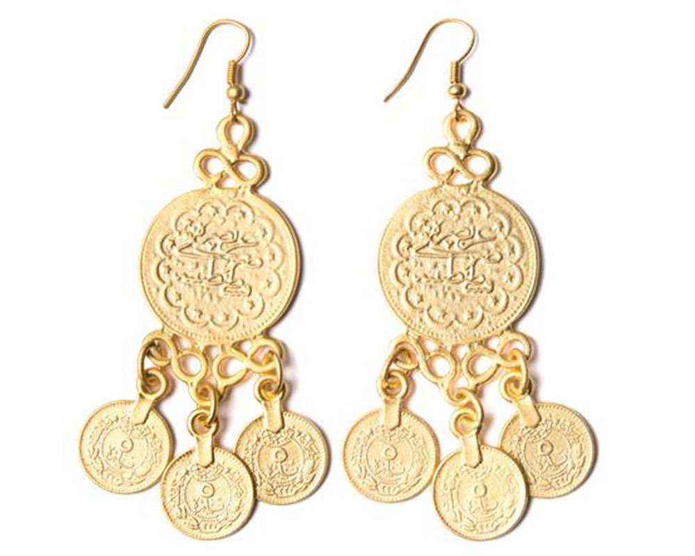 """Asli"" Turkish Coin Earrings"