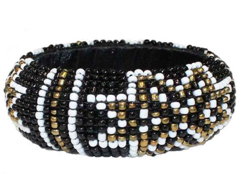 """Triguni"" Seed Bead Star Bangle"