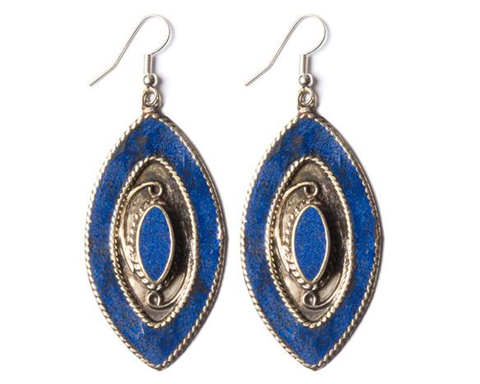 """Amiyah"" Eye of Horas Lapis Earrings"