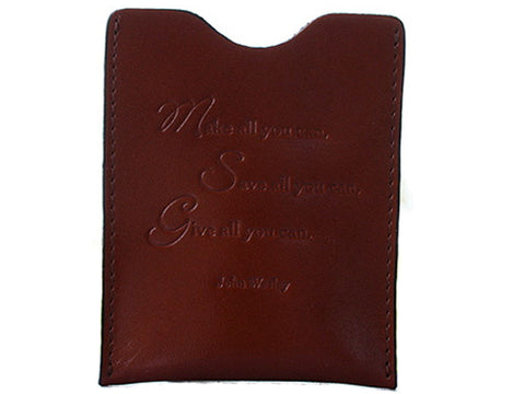 Leather Money Clip - John Wesley