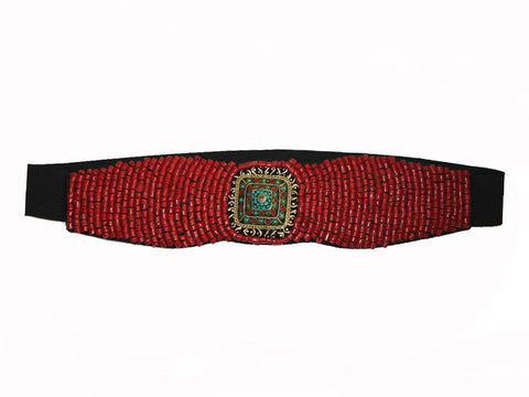 """Shriya"" Multicolored Beaded Clutch"