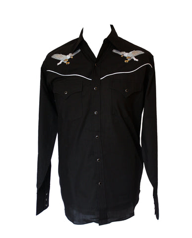 Ely Black Eagle Embroidered Western Shirt