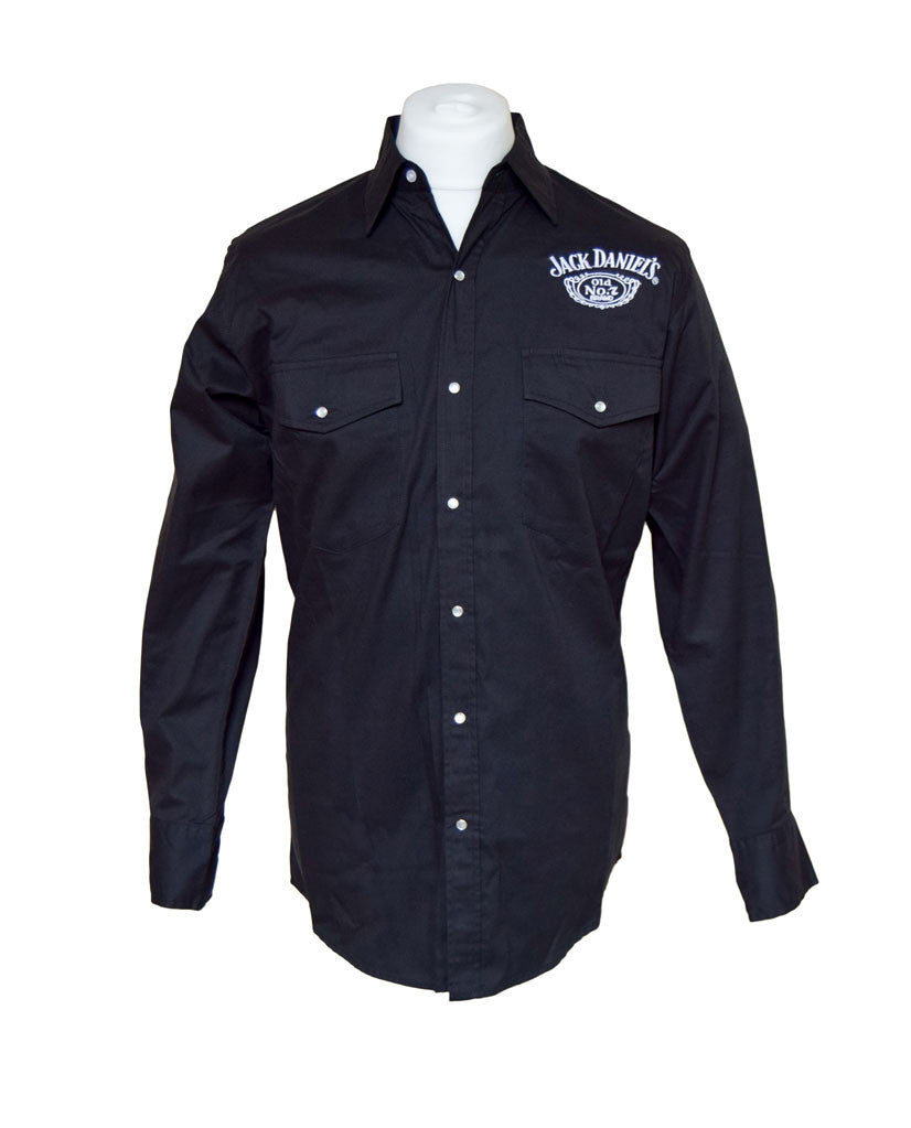 Official Jack Daniels Black Long Sleeve Shirt