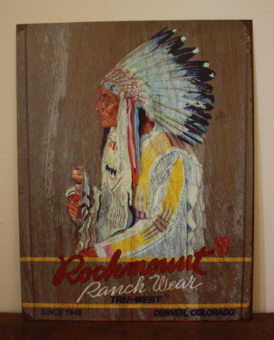 Rockmount Indian Tin Sign