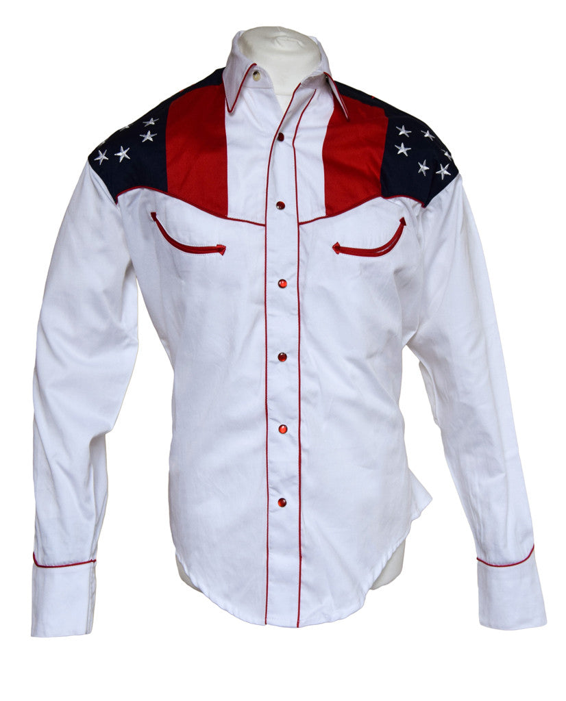 Rockmount American Flag and Eagle Embroidered Western Cowboy Shirt