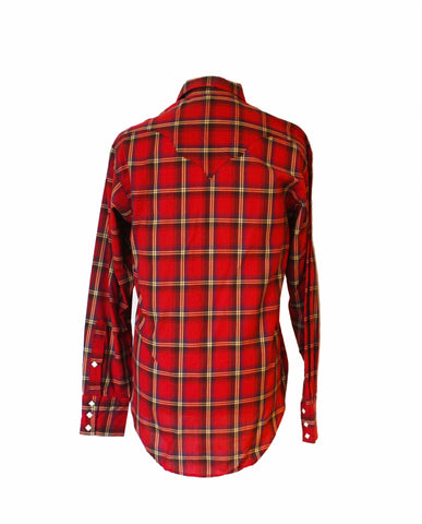 Rockmount Red Plaid/Checked Western Cowboy Shirt Back