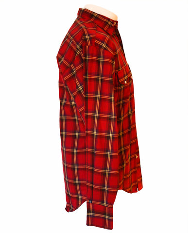 Rockmount Red Plaid/Checked Western Cowboy Shirt Side