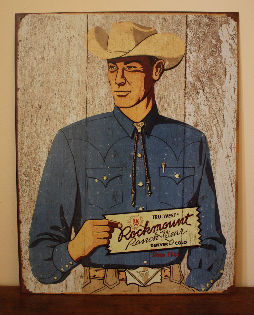 Rockmount Cowboy Tin Sign