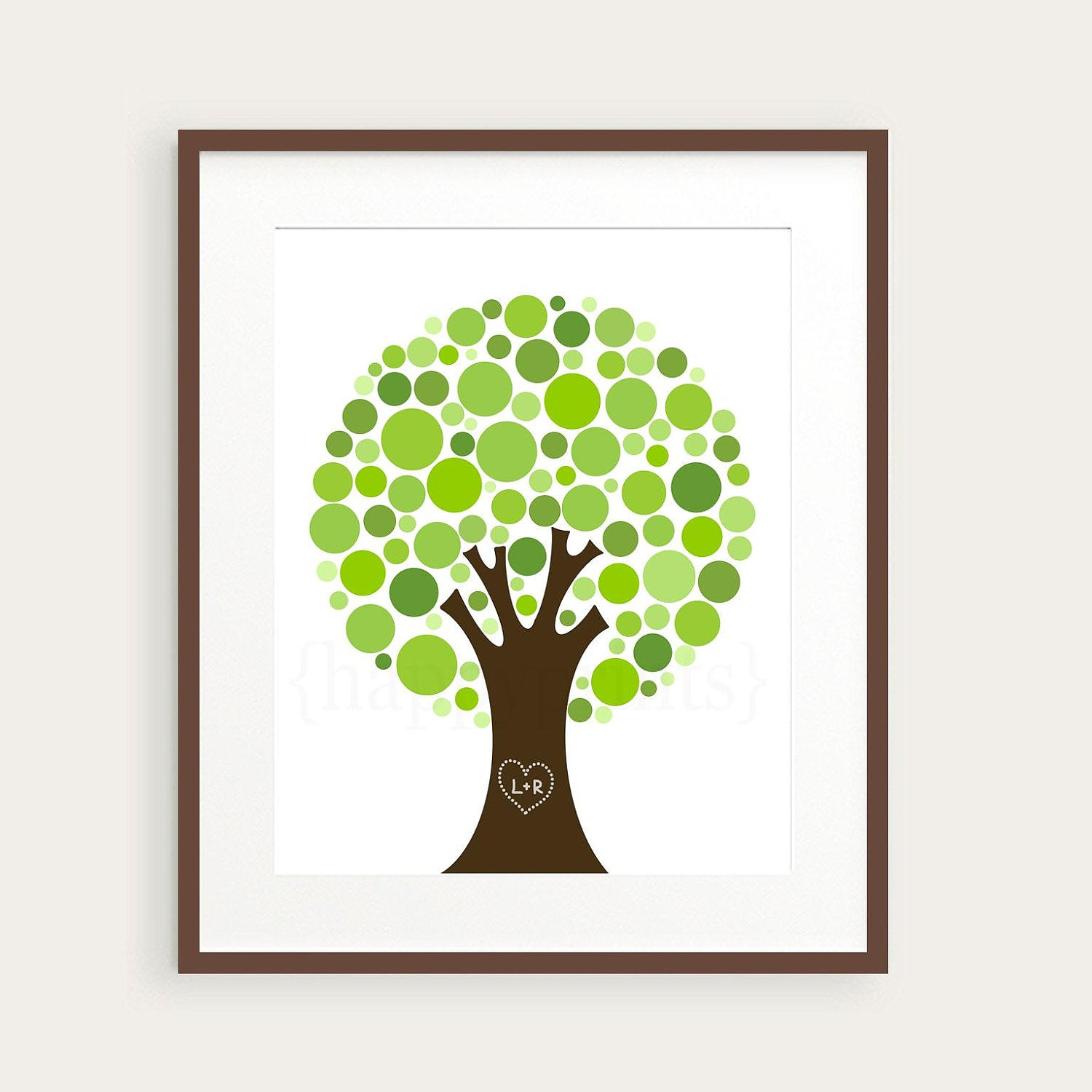 Personalized Family Tree Wall Art Print, Gift for Family or Couple ...