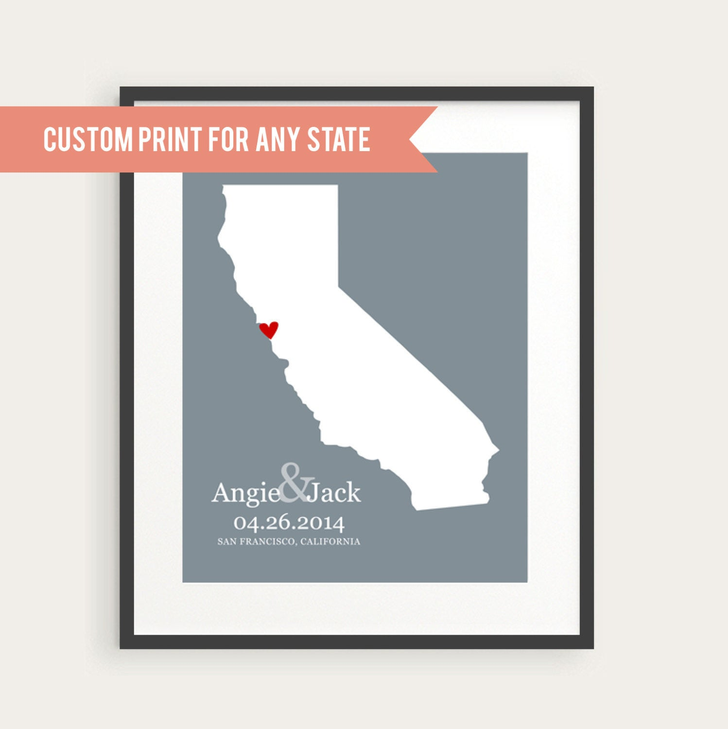 custom wedding gift personalized wedding location print any city any state wedding date gift for couple map home decor print custom wedding gifts Custom Wedding GIft Personalized Wedding Location Print Any City Any State Wedding Date