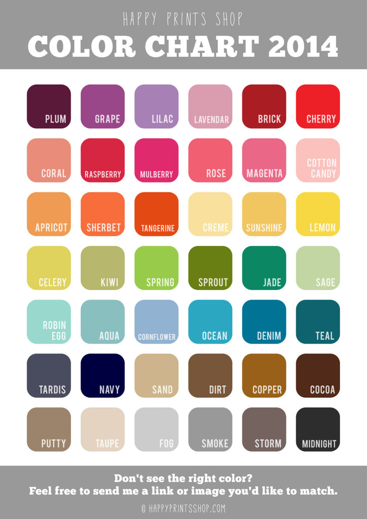 "Unique Color Names typography print in any color - funny & sweet ""please excuse the"