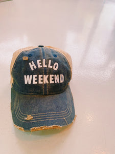 Hello Weekend Baseball Hat