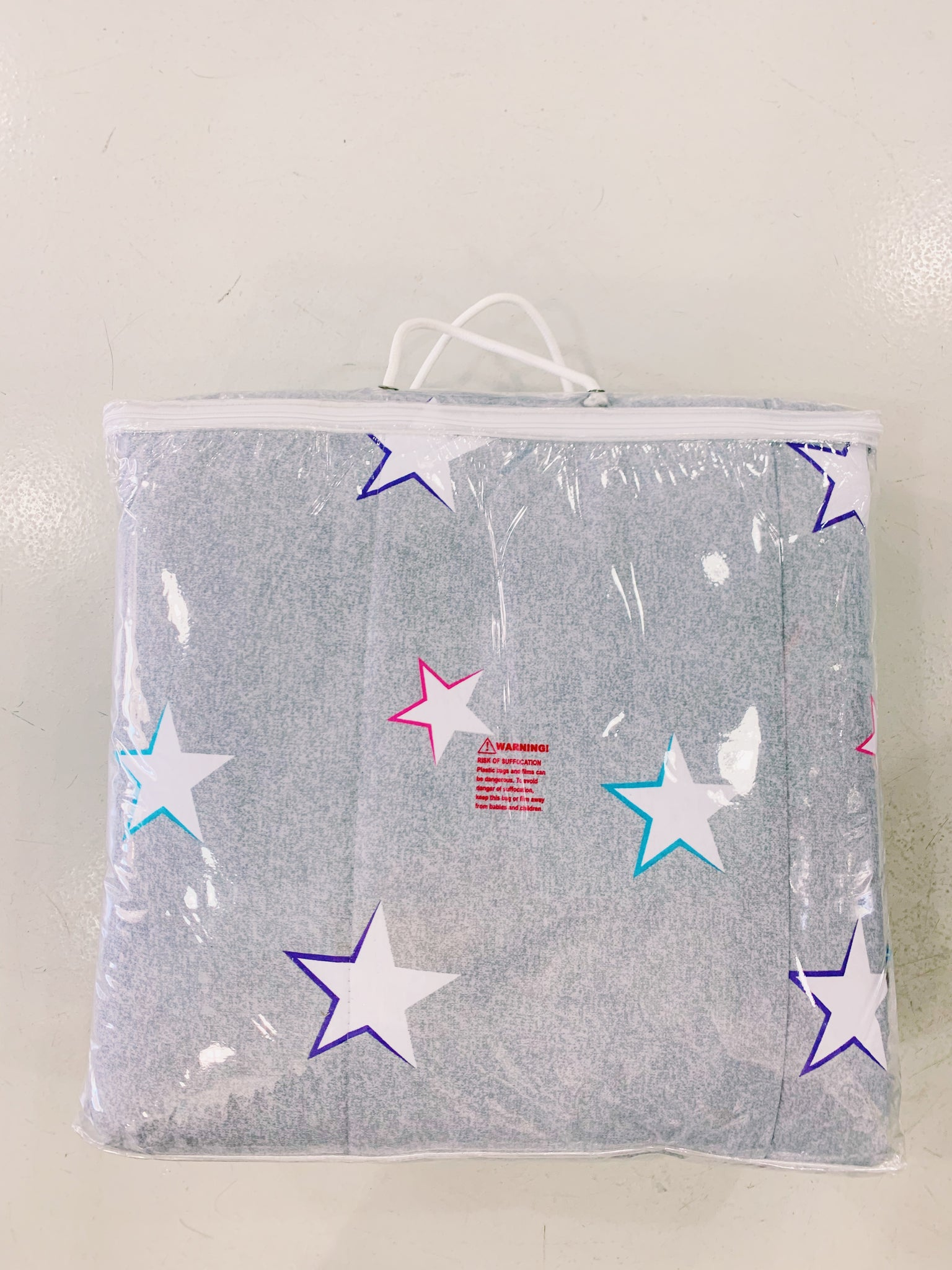 Jersey Knit Comforter - Grey with Stars