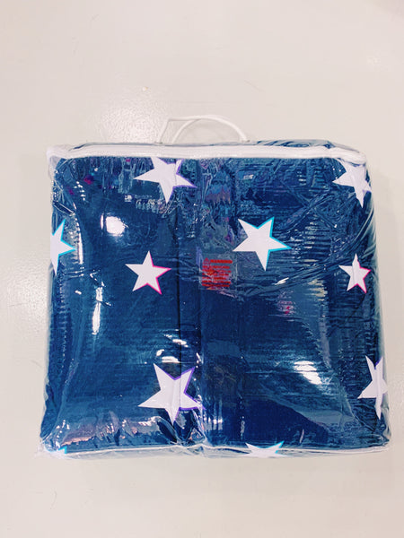Jersey Knit Comforter - Navy with Stars