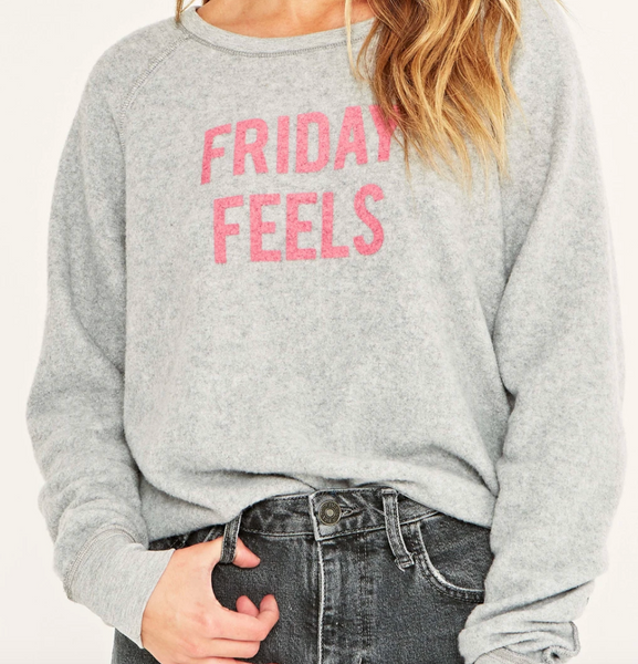 Monday Mood/Friday Feels Reversible Sweatshirt