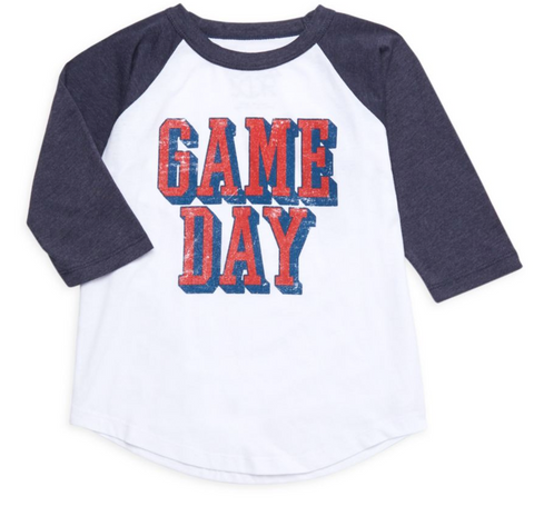 Little Boy's Game Day Slogan Jersey Top