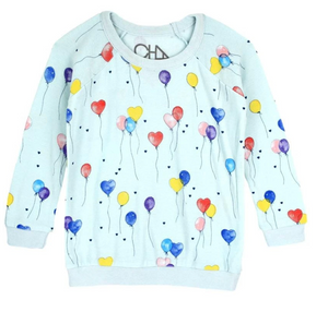 Chaser Balloons Cozy Knit Girls Pullover