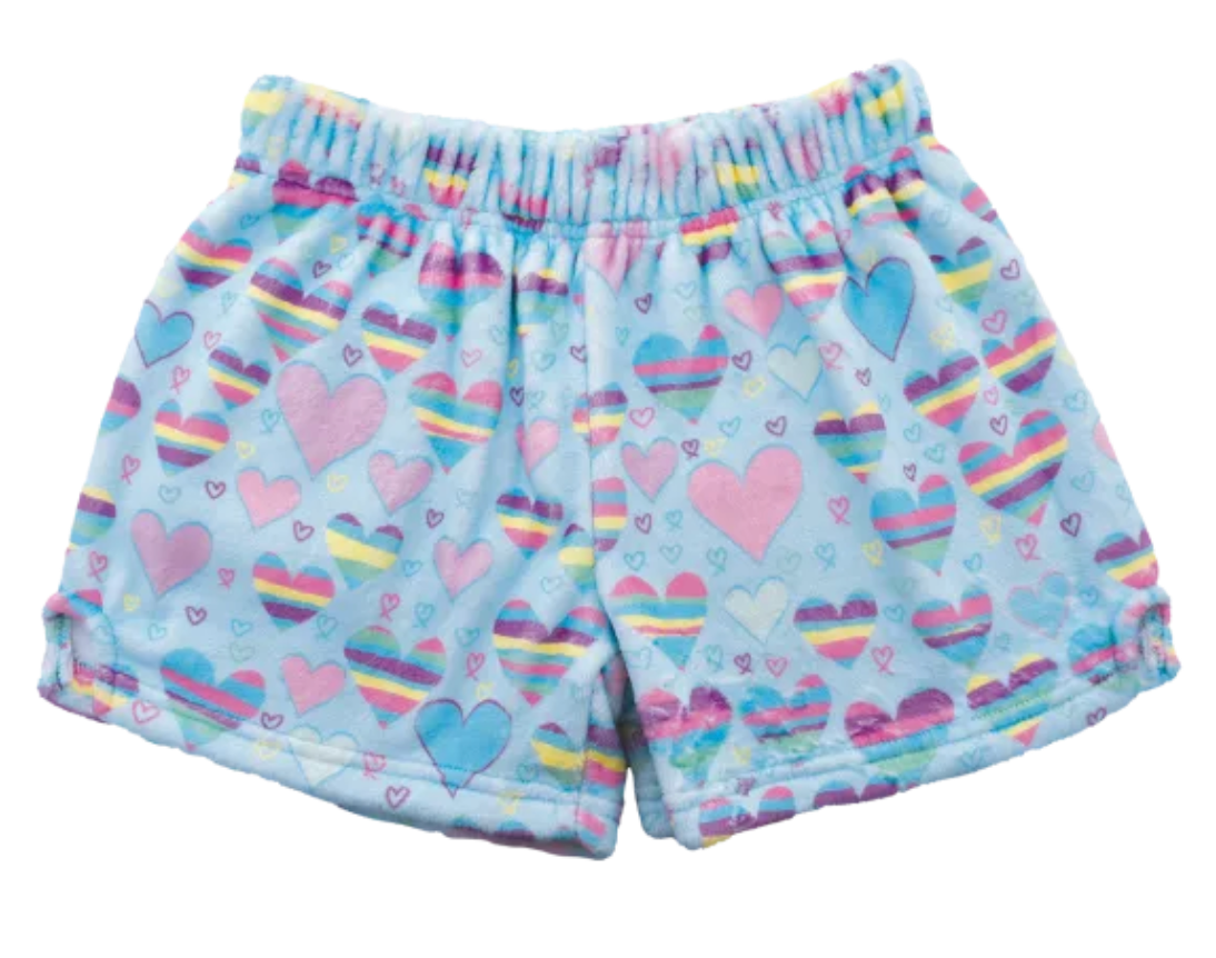 iscream Striped Hearts Plush Shorts