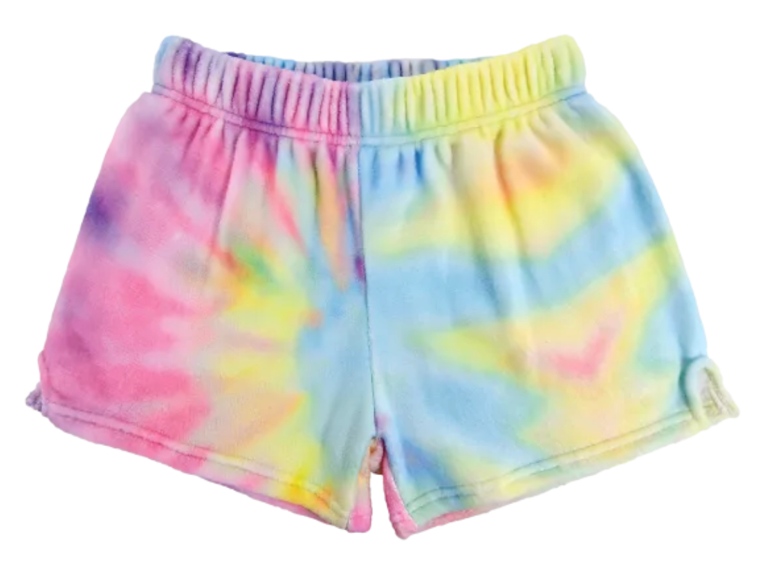 iscream Pastel Tie Dye Plush Shorts