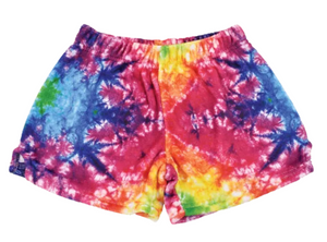 iscream Rainbow Tie Dye Plush Shorts
