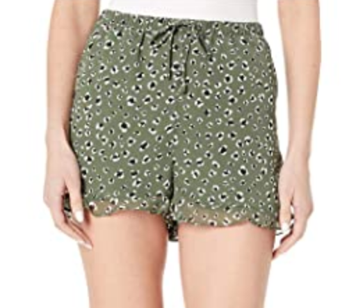 Jack by BB Dakota Green Leopard Shorts