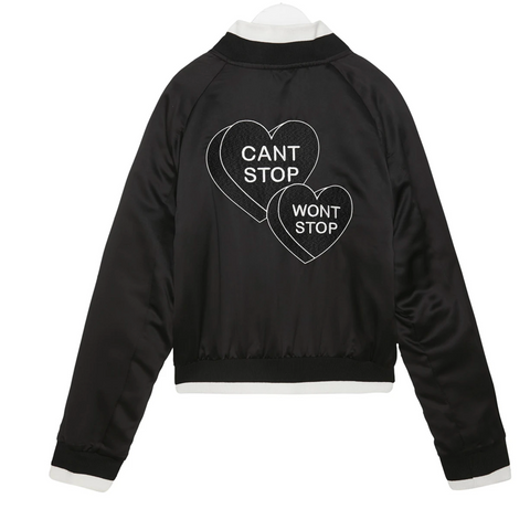Can't Stop Won't Stop Reversible Bomber Jacket